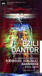 Rodriguez, Gonzalez, Bainbridge- Ezili Dantor at AFH poster sm-min