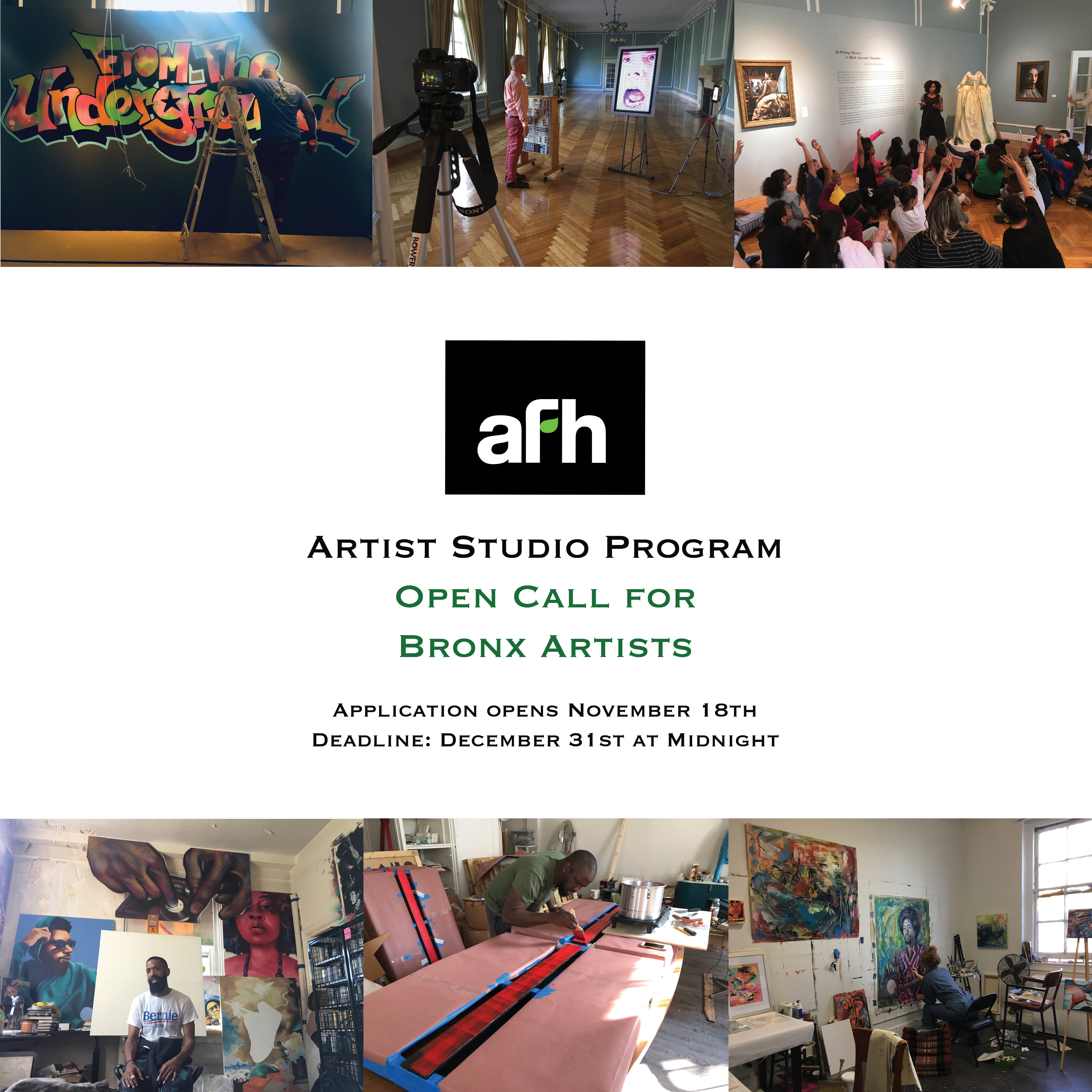 AFH Studio Open Call Square Images
